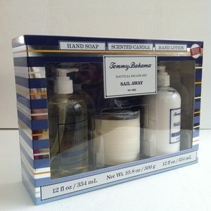 Tommy Bahama Gift Set Hand Soap Candle Lotion